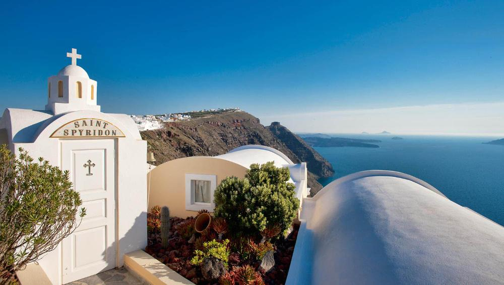 The Santorini Princess Spa Hotel Santorini wedding venue domed church