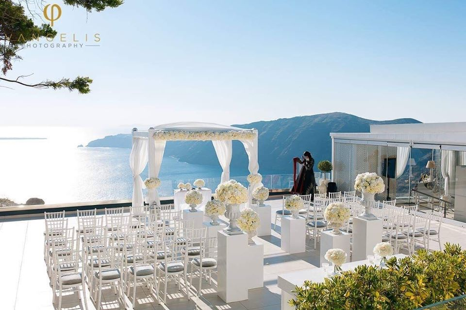 Vangelis Photography Le Ciel Weddings Santorini Wedding Venues
