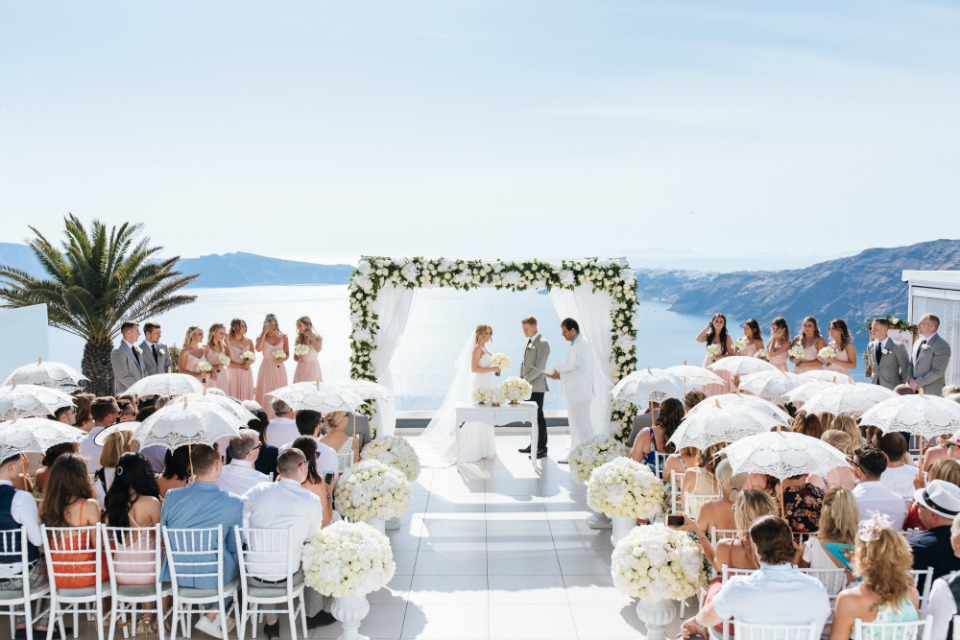Le Ciel Weddings Santorini Vangelis Photography