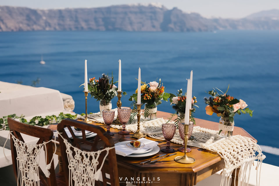 Santorini Wedding Decoration Weddings and Whimsy Santorini