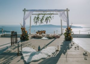 Santorini Wedding Decoration Weddings and Whimsy Santorini