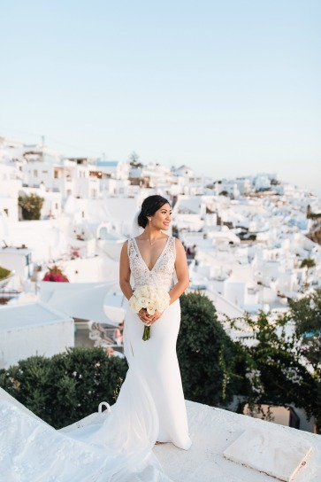 Santorini Princess Wedding Package - Vangelis Photography