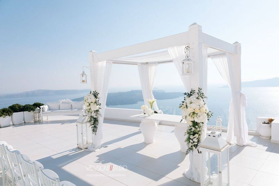 Dana Villas Weddings Wedvisions Photography Santorini Wedding Venues Bettys Flowers Santorini